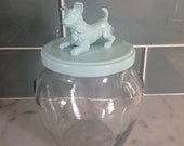 Recycled Glass Jar - Chihuahua in Robin's Egg Blue