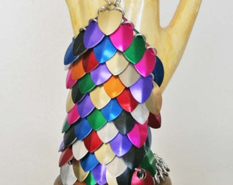 Rainbow color scale maille glovelette