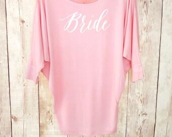 Bride Shirt. Dolman Tunic Top. Wifey Shirt. Future Mrs. Shirt. Wifey Top. Bride Gift. Wedding Gift. Bachelorette Party Shirt. Wedding Shirt