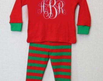 Kids Matching Christmas Pajamas |  Baby Girl Christmas Pajamas | Personalized Christmas Pajamas | Family Matching Christmas Pajamas 292621
