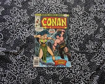 Conan The Barbarian #82 Vintage Marvel Comic Book. 1977 Barbarian Fantasy Bronze Age Comic. 70s Conan Barbarian Bronze Age Comic Book