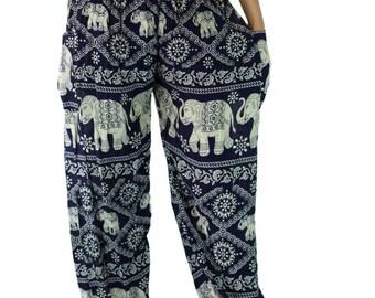 Unisex Harem pants/Elephant pants /Hippies pants /Boho pants one size fits Navy