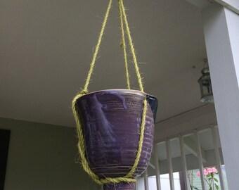 Handmade hanging planter