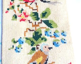 embroidery wall art- bird wall art