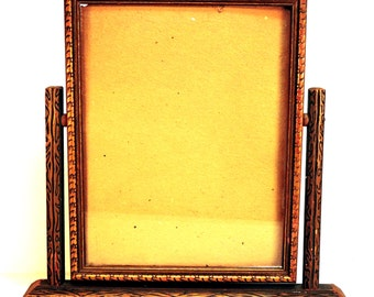 Vintage Picture Frame Swing Top Shabby Gold Frame Photo Prop