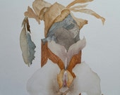 "Totem Series  "" Seeking Enchantment"" One of a kind original watercolor"