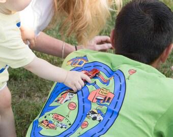 Educational Toy Sensory Integration Shirt with Race Track for Fine Motor Skill Development