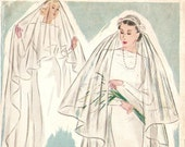 Pictorial Review 8805 Gorgeous Vintage 1930s Bridal Veil Sewing Pattern