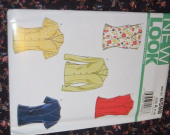 New Look 6598 Misses Shirt Sewing Pattern - UNCUT - Sizes 8 - 18