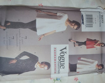 Vogue 9277 Misses Maternity Dress Tunic Skirt and Leggings  Sewing Pattern - Size 6  8  10  - UNCUT
