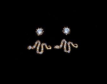 The Diamond x Serpent Earrings