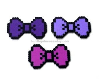 8 Bit Bows - Pixel Bows - 8 Bit Hair Bows - Pixel Hair Bows - 8 Bit Bow Tie - Pixel Bow Ties - 8 Bit Wedding - Pixel Wedding - Retro Wedding