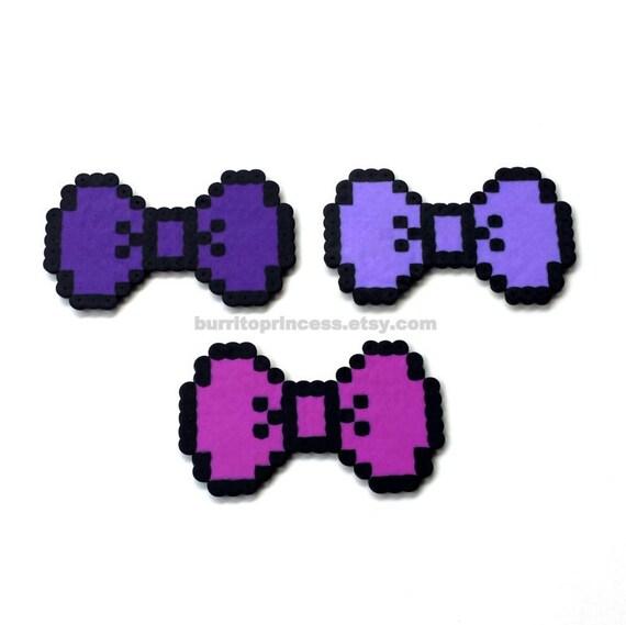 8 Bit Bows Pixel Bows 8 Bit Hair Bows Pixel Hair Bows