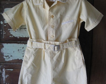 Boy's Jack Tar Togs Yellow Outfit, Vintage 1940's - 50's Clothing
