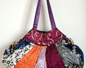 Women Sequin Embroidery Fan Bag Evening Shoulder Bag Stylish Purse SQH03