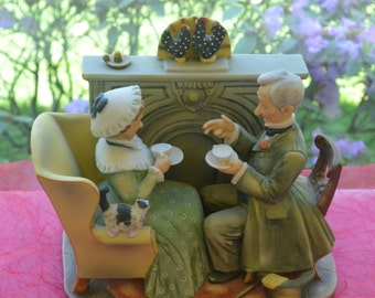 Gorham Norman Rockwell  - Winter Gaily Sharing Vintage Times - Vintage - Stunning!