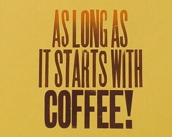 Coffee letterpress poster