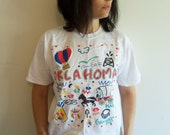 90s Oklahoma Artist Colorful T shirt