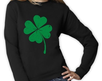 Faded Green Shamrock - St. Patrick's Day - Women's Sweatshirt