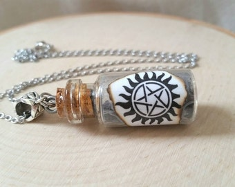 Supernatural necklace - Anti possession - supernatural anti possession - vial necklace - supernatural jewelry - cosplay - supernatural gifts