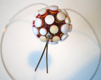 Pompom, decorative Glass Bead glass bead