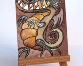 """The Dragon - """"Discarded Tales"""" ACEO series, #14"""