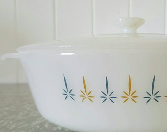Fire King Casserole Dish with lid