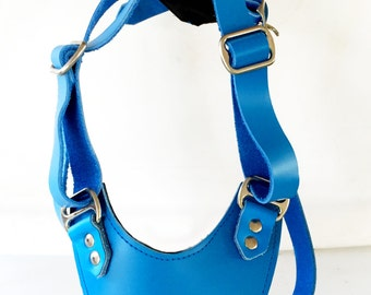 Adjustable Leather dog harness for large sized dogs