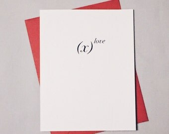 The Power of Love Math Card / Anniversary Card / I Love You Card / Valentine's Day / Positively Awesome Card / Love Equation
