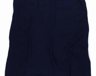 Navy Maxi Skirt / 80s Maxi Skirt / Medium- Large