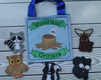 Woodland Critters Finger Puppet Set