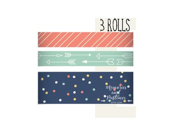 Carpe Diem Posh Washi Tapes - Totally Chic - Planner Washi Tape Scrapbooking Embellishment - Simple Stories - 375211