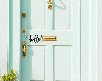 Hello! Front Door Decal
