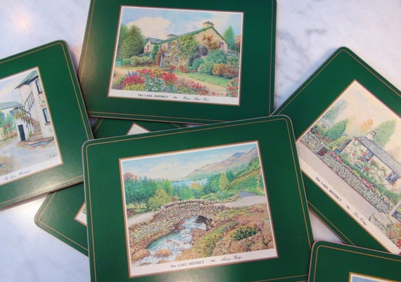 6 English Pimpernel Placemats The Lake District Made In