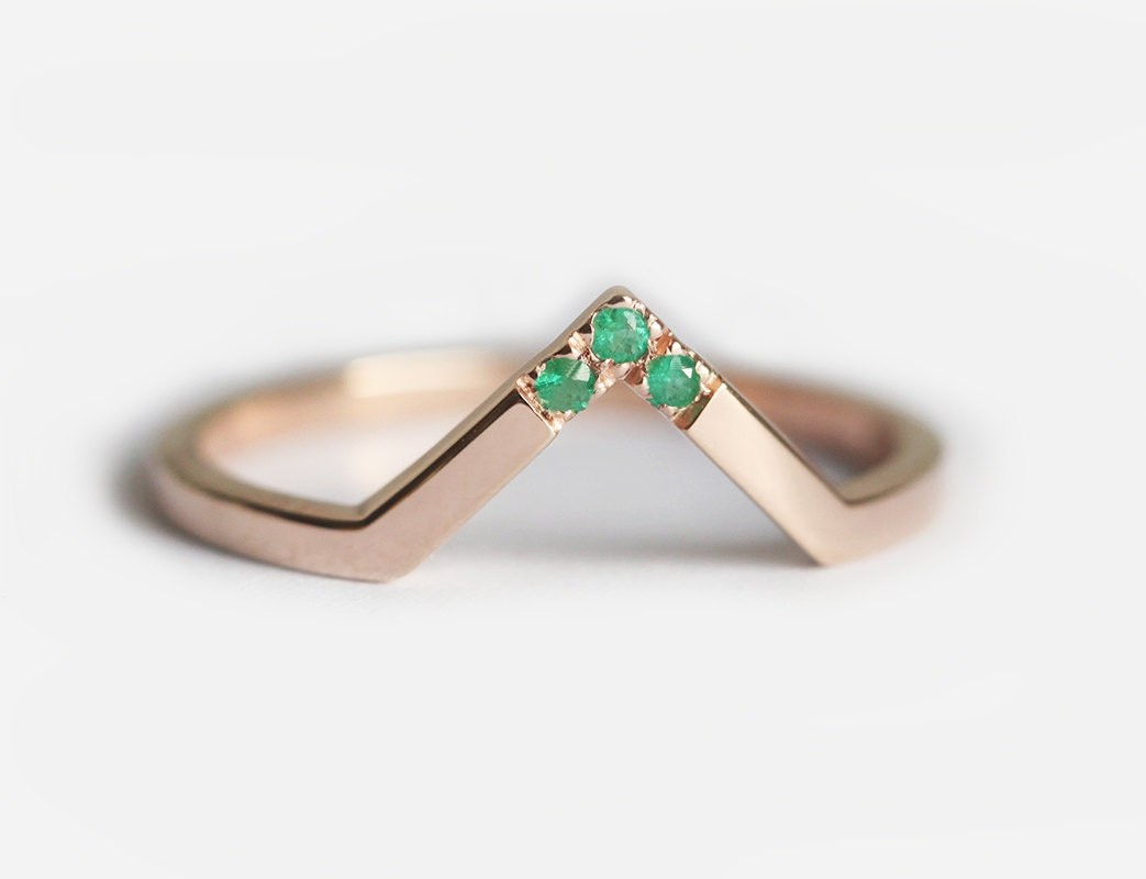 emerald wedding band gold emerald band emerald ring