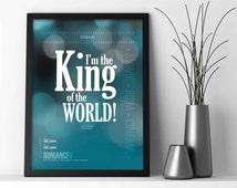 TITANIC: I'm the King of the World - Jack Dawson - Movie Quote - Wall Art Print