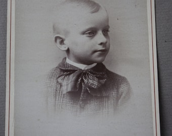 Antique, Circa 1800s Cabinet Card by Russell of Hudson, New York