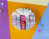 Flower Pin Cushion - Cityscape