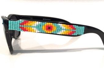 Polarized Sunglasses, Beaded Sunglasses, Evil Eye, Turquoise Sunglasses, Wayfarer, Ray Ban Style, Boho Style Sunglasses, Summer Accessory