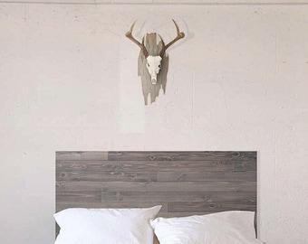 The Deadwood Headboard - Rustic Barn Wood Style Headboard - Handmade In Chicago USA.