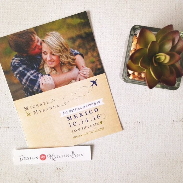 Destination Wedding Save The Date Magnet