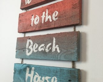 Cottage Chic Beach Decor, Welcome Sign, Wall Art, Nautical Decor, Coastal Decor, Beach Wall Art, Beach, Coastal Art, Reclaimed Wood