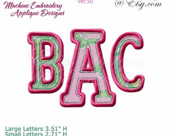 Applique Alphabet Machine Embroidery Applique Designs Monogram Font BX Format Digital Download