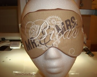 Bridal Shower Gift. Gift for Her, Country Bride Sleep Mask w/elastic band. Double padded. Sleep Aid. Travel Mask. Migraine Mask . Eye Pillow