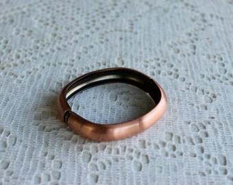 Vintage 1990's Brushed Copper Tone Clamper Bracelet