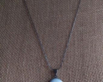 Vintage 1970's Silver Tone Engraved Locket Necklace
