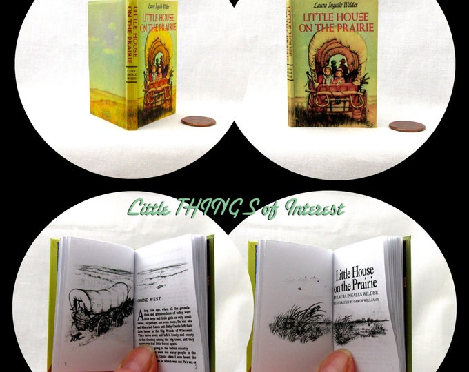 LITTLE HOUSE On The PRAIRIE Illustrated Book in 1:3 Scale Readable Book American Girl Doll Laura Ingalls Wilder 18 inch Ag Doll 1/3 Scale