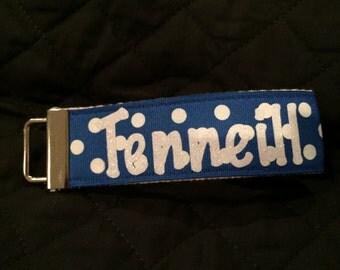 personalized wristlet keychain