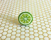 Lime Ring, Large Fruit Ring, Handmade Ring, Fruit Ring, Statement Ring, Large Food Ring, Lime Jewelry, Summer Ring