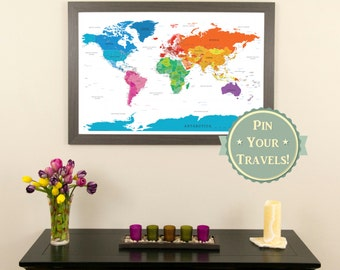 Personalized travel pin maps to track lifes by PushPinTravelMaps